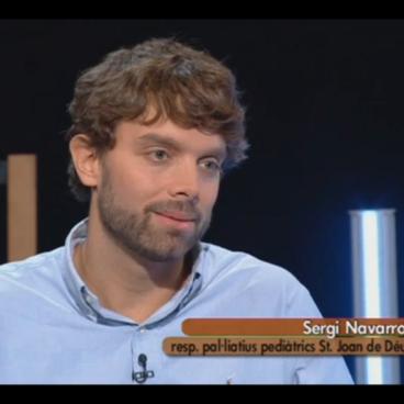 Sergi Navarro, en el programa Terrícoles de betevé